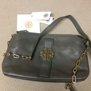 Tory Burch Meyer chain crossbody porcini color